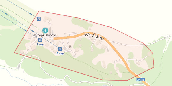 Гостиницы поляны Азау на карте
