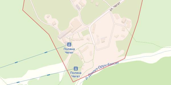 Гостиницы поляны Чегет на карте