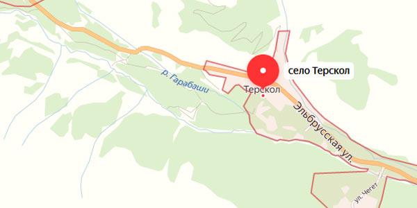 Посмотреть на карте все гостиницы поселков Приэльбрусья